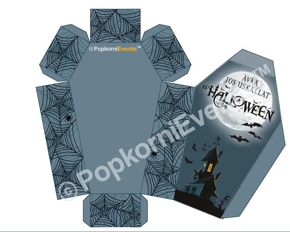Halloween juhlat lapsille, digitaalinen juhlapaketti, koristelu arkku