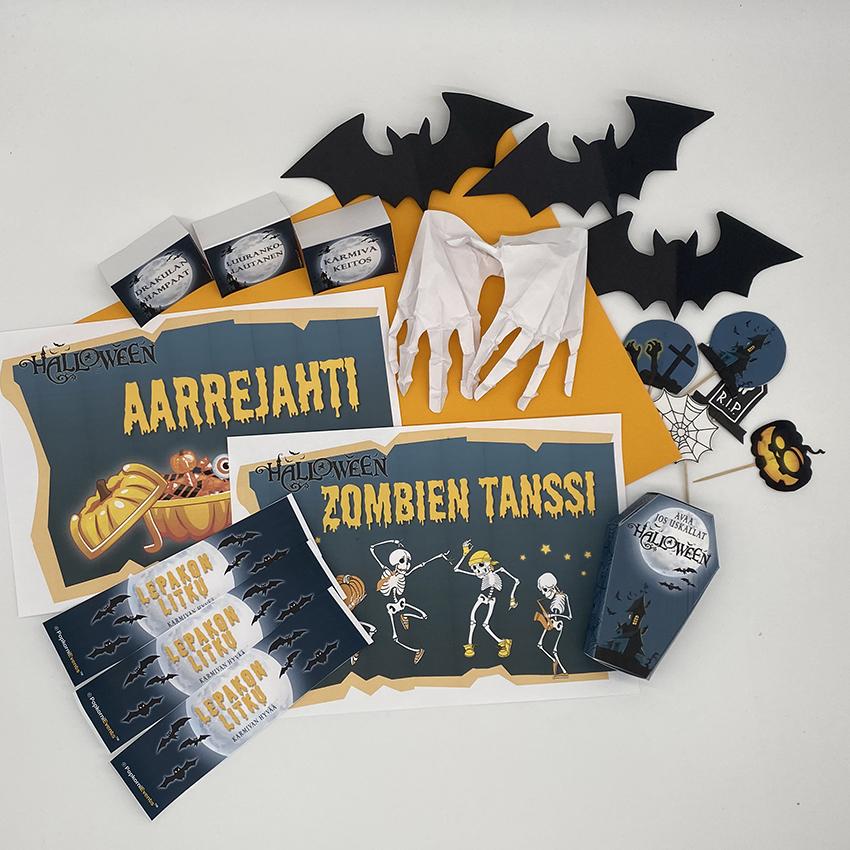 Halloween juhlat lapsille, digitaalinen juhlapaketti, halloween koristelu