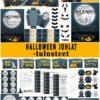 Halloween juhlat lapsille, digitaalinen juhlapaketti
